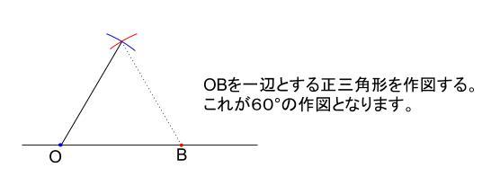 中学数学・高校受験chu-su- 30度の作図 解答図1