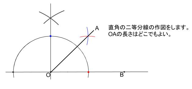 中学数学・高校受験chu-su- 45度の作図 解答図2