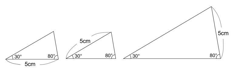 中学数学・高校受験chu-su- 三角形の合同条件 例題のかいとう図