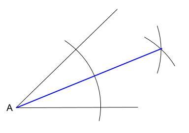 中学数学・高校受験chu-su- 作図 角の2等分 図4