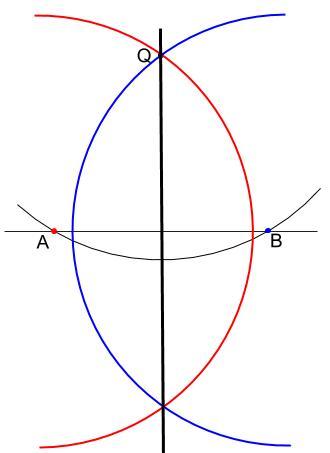中学数学・高校受験chu-su- 作図 垂線 線の外 解答図3