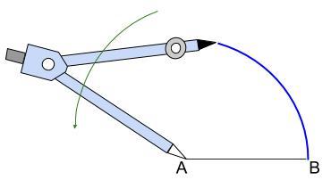 中学数学・高校受験chu-su- 作図 正三角形  図3