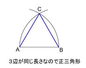 中学数学・高校受験chu-su- 作図 正三角形  図5