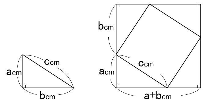 中学数学・高校受験chu-su- 三平方の定理の証明  図1