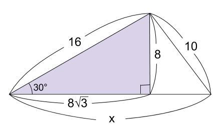 中学数学・高校受験chu-su- 三平方の定理 三角定規 例題2 図2