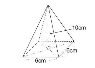 中学数学・高校受験chu-su- 四角すいの体積 図1