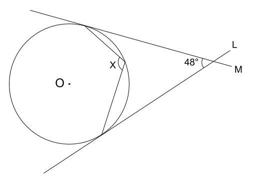 中学数学・高校受験chu-su- 円周角の定理 例題10 図1