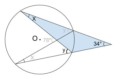 中学数学・高校受験chu-su- 円周角の定理 例題11 図3