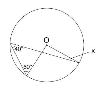 中学数学・高校受験chu-su- 円周角の定理 例題2 図1