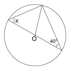 中学数学・高校受験chu-su- 円周角の定理 例題5 図1