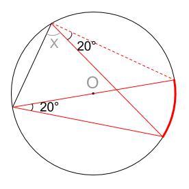 中学数学・高校受験chu-su- 円周角の定理 例題7 図2