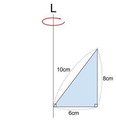 中学数学・高校受験chu-su- 空間図形 回転体 円柱-円すい 図4-1