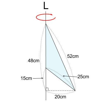 中学数学・高校受験chu-su- 空間図形 回転体 円すい-円すい 図5-1