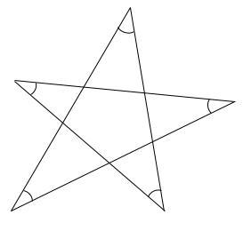 中学数学・高校受験chu-su- 求角 星 図1