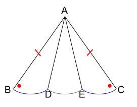 中学数学・高校受験chu-su- 証明 二等辺三角形の性質の利用 図1-2