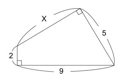 中学数学・高校受験chu-su- 三平方の定理 例題2 図1