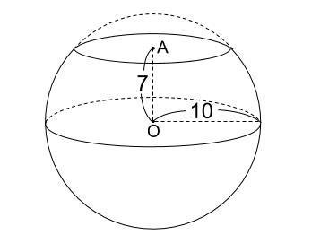 中学数学・高校受験chu-su- 球の切断面 三平方の定理 図1