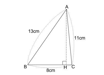 中学数学・高校受験chu-su- 3辺既知の三角形 図1