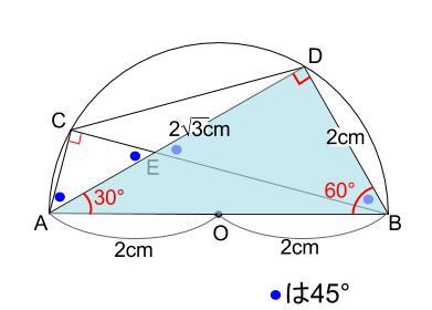 中学数学・高校受験chu-su- 円の総合問題・30度の利用 図7