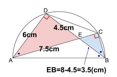 中学数学・高校受験chu-su- 円の総合問題2 図4