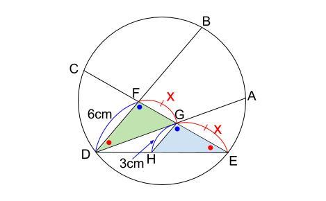 中学数学・高校受験chu-su- 円の総合問題 難問 別解図