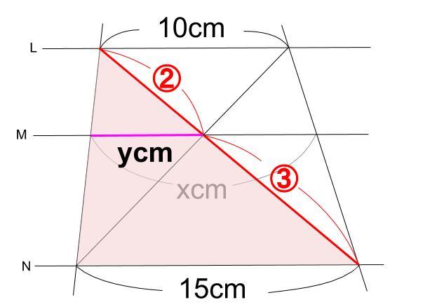 中学数学・高校受験chu-su- 平行線と線分の比 2-5