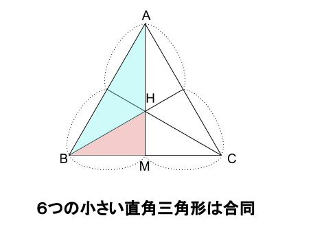 中学数学・高校受験chu-su- 正四面体の体積 正三角形の重心 図4
