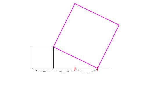 中学数学・高校受験chu-su- √5の作図 図3