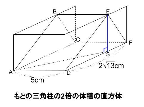 中学数学・高校受験chu-su- 三角柱 難問 図4-4