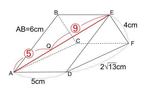 中学数学・高校受験chu-su- 三角柱 難問 図4