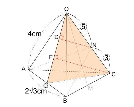 中学数学・高校受験chu-su- 正四角錐 図4