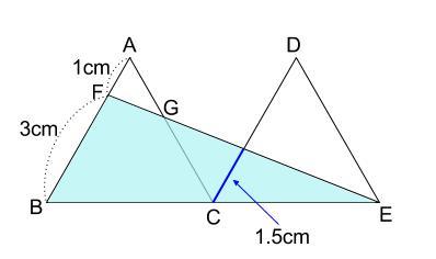 中学数学・高校受験chu-su- 正三角形と相似 図2