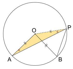 中学数学・高校受験chu-su- 円周角の定理の成立2-2 図2