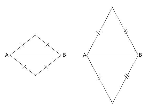 中学数学・高校受験chu-su- 作図 ひし形1 図2
