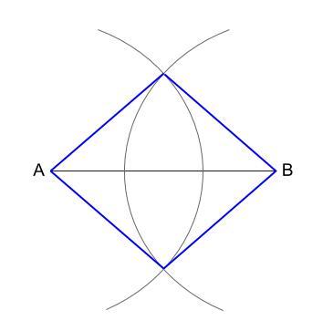 中学数学・高校受験chu-su- 作図 ひし形1 図4