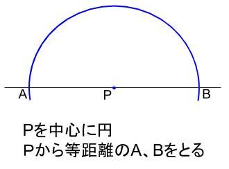 中学数学・高校受験chu-su- 作図 垂線 直線上 解答図1