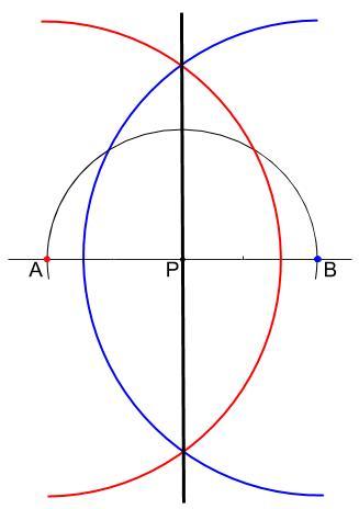 中学数学・高校受験chu-su- 作図 垂線 直線上 解答図2