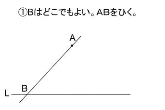 中学数学・高校受験chu-su- 平行線・ひし形で作図 解答図1