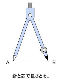 中学数学・高校受験chu-su- 作図 正三角形  図2