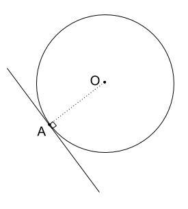 中学数学・高校受験chu-su- 作図 円の接線 ラフスケッチ