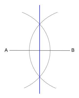 中学数学・高校受験chu-su- 作図 垂直2等分線 1-4 図4