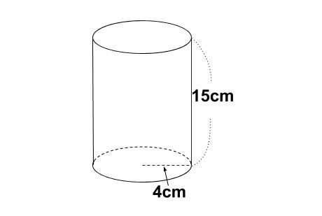 中学数学・高校受験chu-su- 円柱の表面積 図1