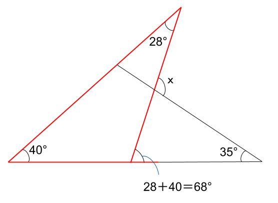 中学数学・高校受験chu-su- 三角形の外角 例題2 解答図1