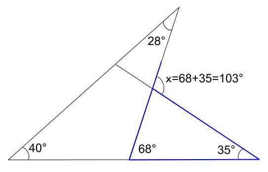 中学数学・高校受験chu-su- 三角形の外角 例題2 解答図2