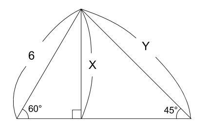 中学数学・高校受験chu-su- 三平方の定理 三角定規 例題1 図1