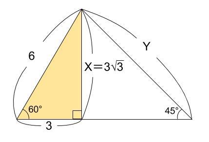 中学数学・高校受験chu-su- 三平方の定理 三角定規 例題1 図2