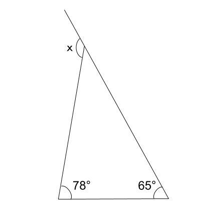 中学数学・高校受験chu-su- 三角形の外角 例題1