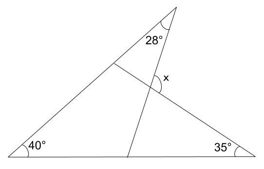 中学数学・高校受験chu-su- 三角形の外角 例題2