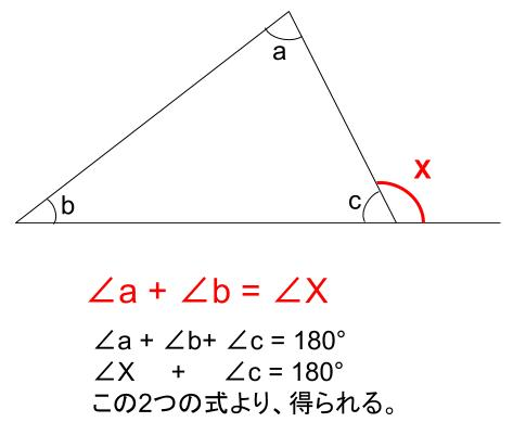 中学数学・高校受験chu-su- 三角形の外角