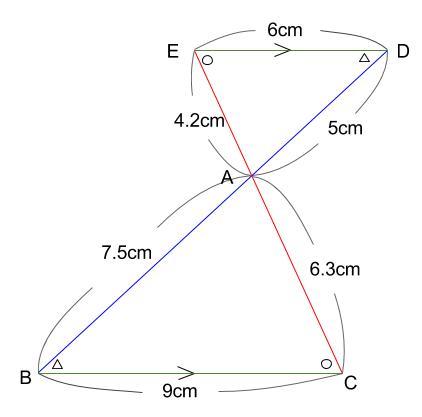 中学数学・高校受験chu-su- 相似 砂時計型 ちょうちょ型 図2